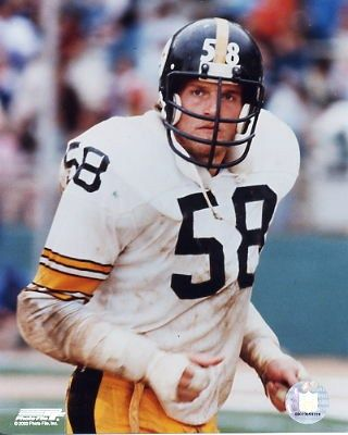 b8cbd92ac21 ... 58 Jack Lambert Black Yellow Jersey JACK LAMBERT of the Pittsburgh  Steelers. Once said