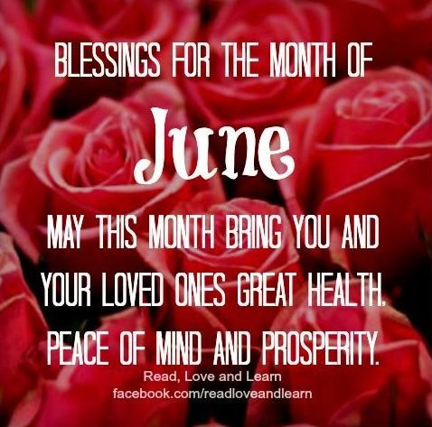 june blessings quote via