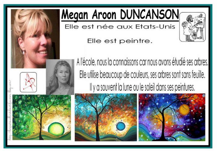 Mes moyennes sections ont également travaillé sur les arbres de Megan Aroon DUNCANSON.