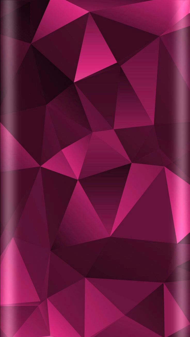 Pink Geometric Abstract Wallpaper (With images