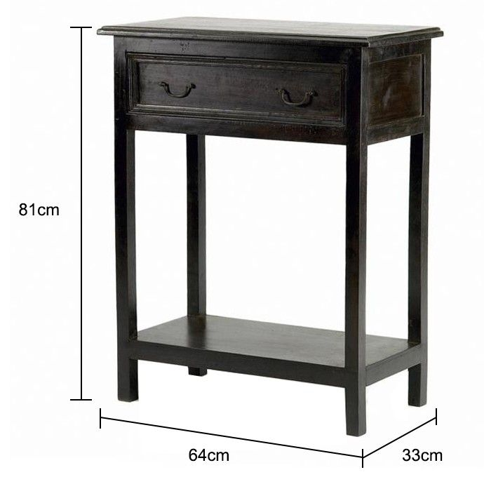 Small Wooden Console in Black