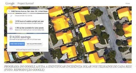 GOOGLE VAI MAPEAR POTENCIAL DE ENERGIA SOLAR DAS CASAS - 31/08/15
