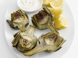 Microwaved artichokes. If I ever get the nerve to try to be a real Californian.