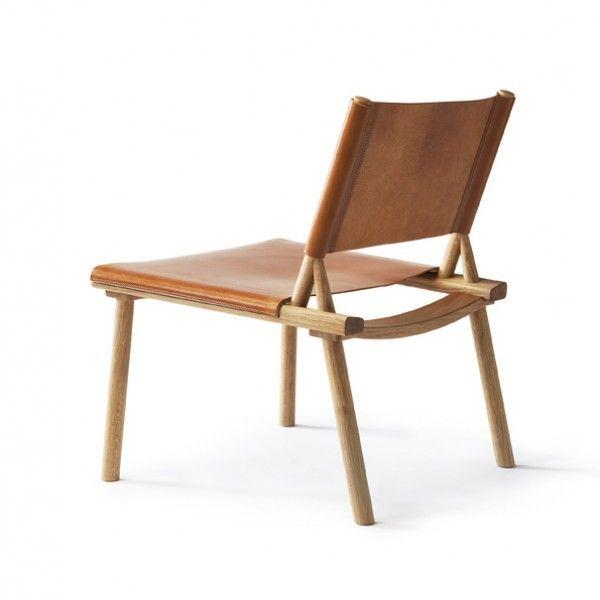 Wow. DECEMBER XL chair by Jasper Morrison and Wataru Kumano for Nikari, Finland.  Ash or oak frame, canvas or leather.