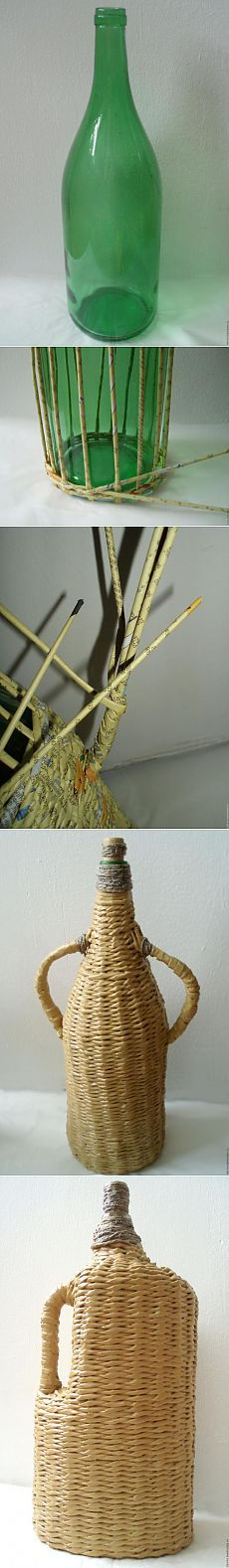 Carboy (Weaving newspapers) - Fair Masters - handmade, handmade