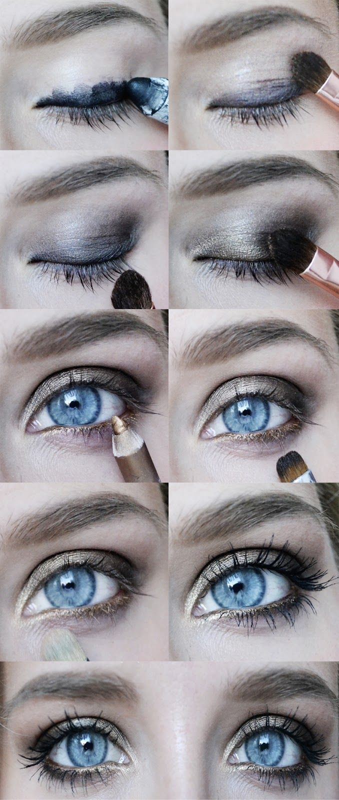 Urban Decay Naked Palette  1. Darkhorse  2. Smog  3. Half Baked    black pencil by NYX  gold pencil by PUPA (27)