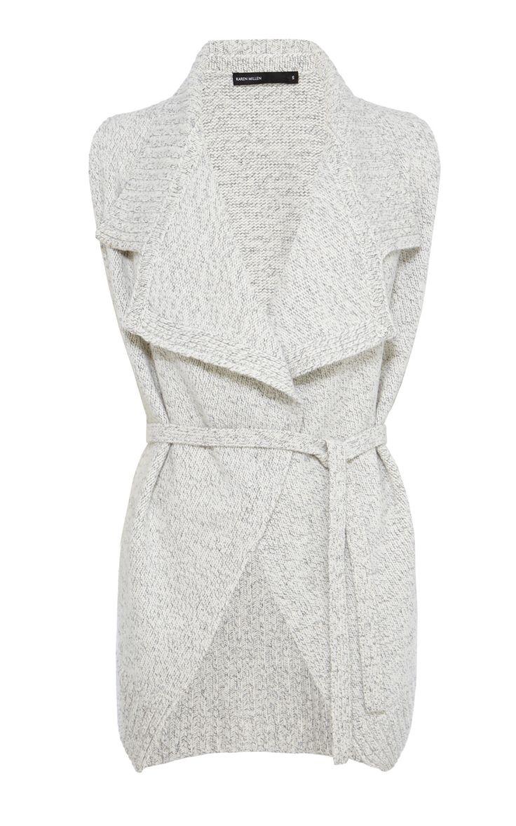 CHUNKY KNIT WAISTCOAT   Luxury Women's new-in_garments   Karen Millen