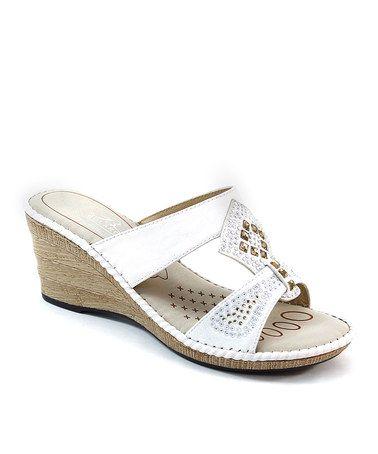 Another great find on #zulily! Beige Rhinestone Embellished Sandal #zulilyfinds