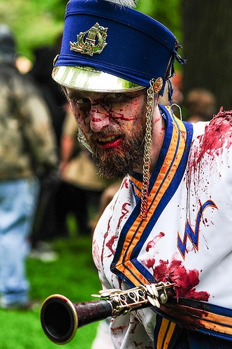 "Zombie Walk Columbus 2012 - ""one time at band camp...""  #zombie"