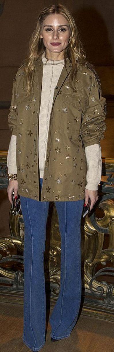 Olivia Palermo: Coat – Valentino  Watch – Buglari  Sweater – Brunello Cucinelli  pants – Reiss