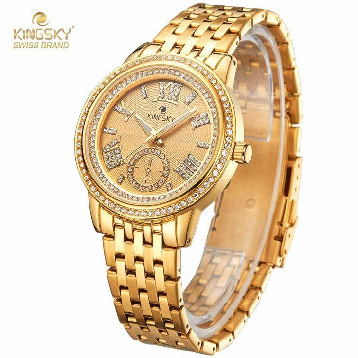 Luxury Quartz Ladies Rhinestone Watch