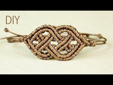 Celtic Style Macrame Bracelet - YouTube