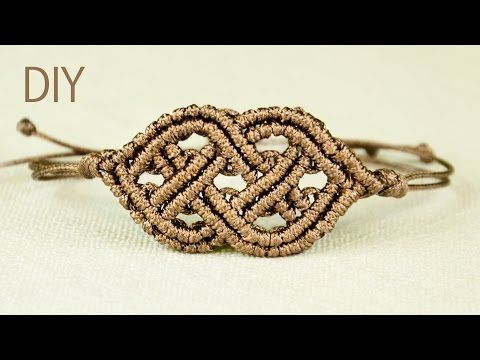 Celtic Style Macrame Bracelet - YouTube