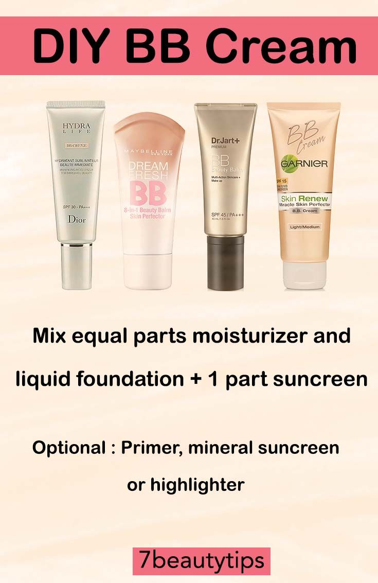 Make your own BB cream with your favorite products!