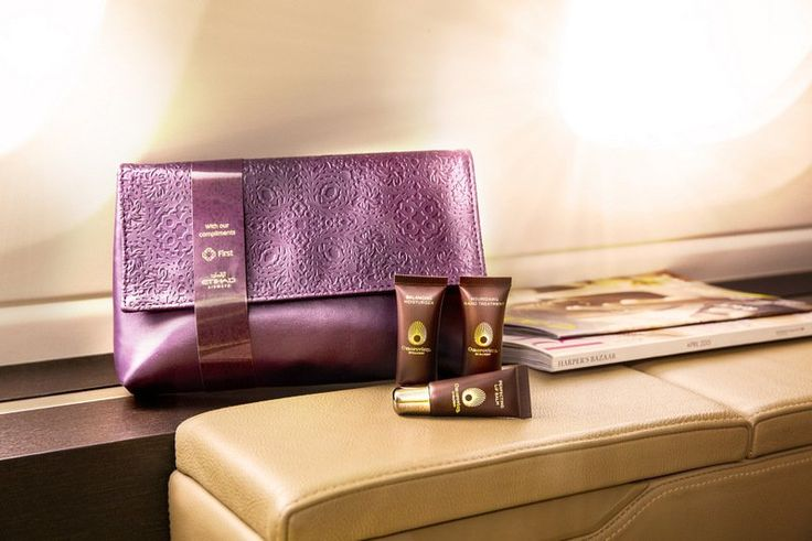 Etihad Airways Christian Lacroix First Class Amenity Kit for women (Etihad Airways photo)