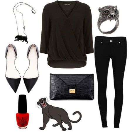 Outfits inspired by characters from the Jungle book: Bagheera