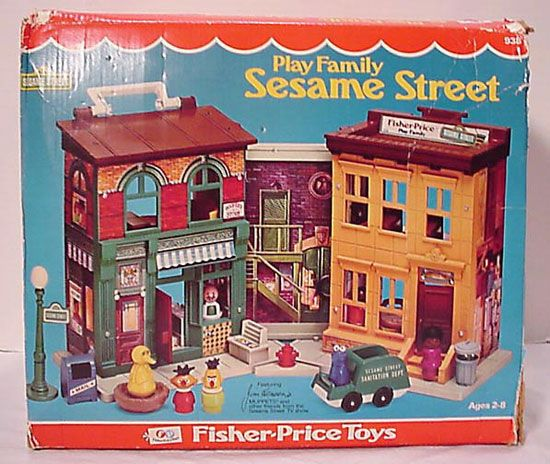 Fisher Price Play Family Sesame Street.  Yes!  My brother bought this for me and I played with it all of the time.