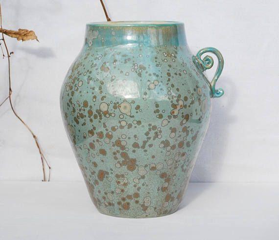 Fine art ceramic crystalline porcelain vase fine porcelain