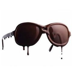 """For those who wish to shock everyone they see, there's always the crazy and strange """"melting"""" designer sunglasses, which actually look like they're going to melt off your face. They were featured in a recent fashion show by clothing designer Klavers van Engelen by a sunglasses designer named Anna Ter Haar."""