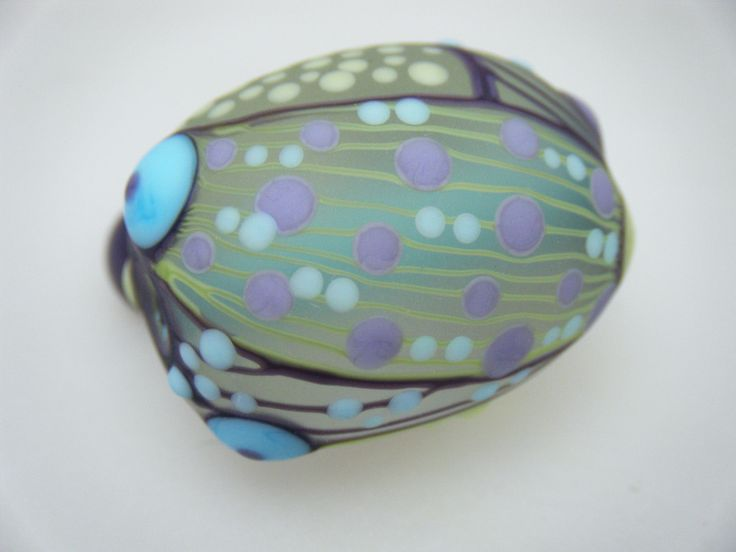 Moogin Beads- Detailed abstract round , lampwork / glass bead set   - SRA by mooginmindy on Etsy