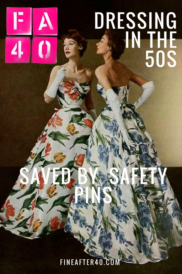 In the Fifties Fast Fashion simply didn't exist. Jam Jar writes about the perils of DIY fashion when the only thing between you and your couture was a handy safety pin.