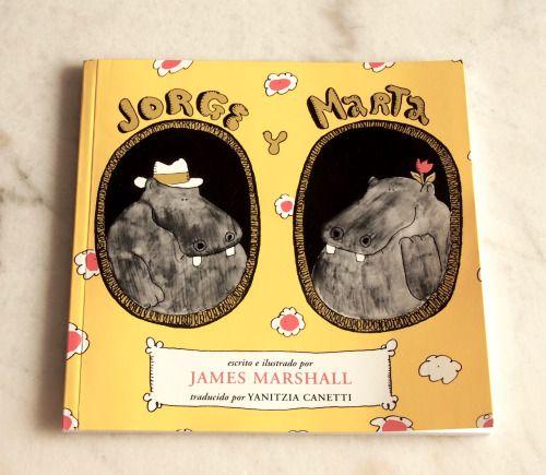 Jorge y Marta son cinco cuentos sobre dos grandes amigos. Un libro que le encanta a mi hijo por las situaciones ridículas que viven los dos grandes hipopótamos en su vida diaria.  Son cuentos cortos, apenas unas páginas, pero aseguran diversión e incluso momentos de carcajadas. Sorprende mucho, porque cuando tienes por primera vez estos cuentos en la mano y los ojeas no es que llamen mucho la atención, pero cuando empiezas a leerlos se despliega su magia.