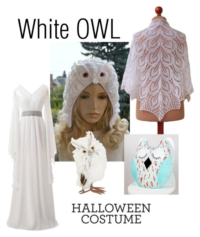 """White owl costume"" by landoflaces on Polyvore featuring moda i GlucksteinHome"