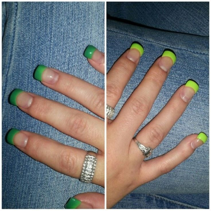 Colour changing shellac .. lime green & green