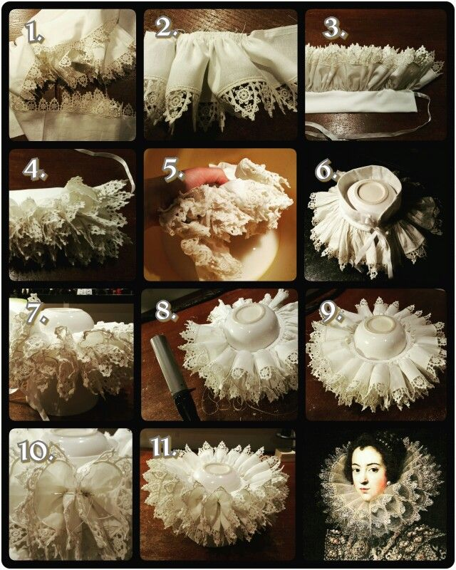 How to make an authentic 16th & 17th century style ruff.  For a step by step tutorial check our Facebook page. Made by Angela Mombers