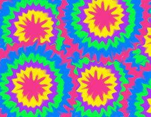 Rainbow Tie Dye Wall Border Teen Girls Room Decor For The Hot New Hippie  Look.