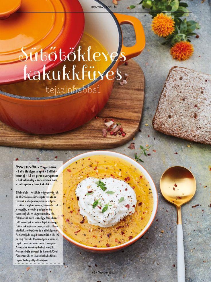 Kakukkfüves sütőtökleves  #sütőtök #leves #kakukkfű #vacsora #ebéd #ősz #narancssárga #finom #tescomagyarorszag