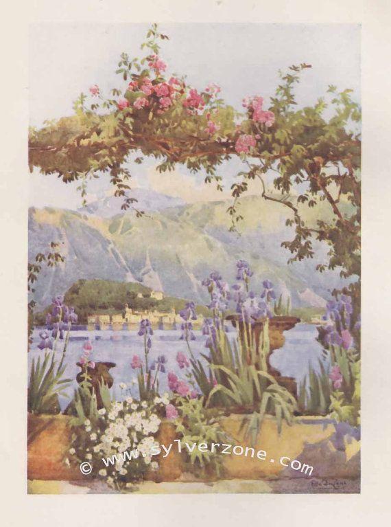 The Italian Lakes  Lago di Como by Ella du Cane by SylverZone, £8.99