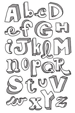 Can't beat hand drawn letters. Google Image Result for http://www.bampop.com/img/catalog/bp00326_2_big.jpg