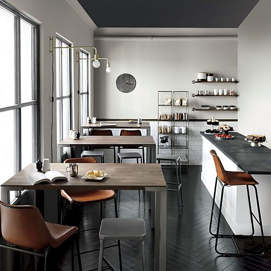 roadhouse leather bar stools | CB2 - and light fixtures