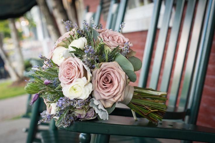 Vintage Bridal Bouquet, amnesia Roses #rosequartz, Ranunculus, Lavender, Eucalyptus