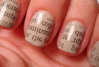 Newspaper Nails- surprisingly easy to do!