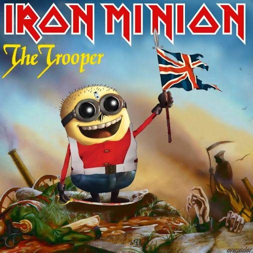 """Iron Minion: 12 capas do Iron Maiden em versão Minion O designer croata  Robert Štivičić , recriou uma série de capas clássicas do Iron Maiden com os simpáticos Minions, os personagens do filme """"Meu Malvado Favorito"""" (Despicable Me)."""