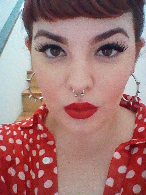 Perfect every day pin up make up (and great earrings)