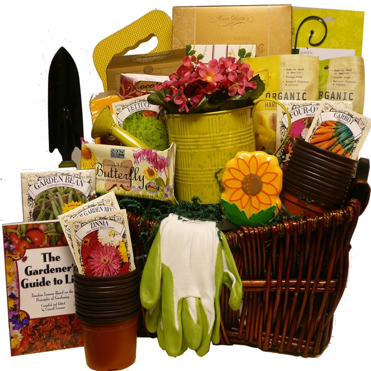 Gardening Basket Gift Ideas build a basketllc summer fun gift basket ideas garden basket ideas Surprise A Blossoming Gardener With A Bumper Crop Of Gourmet Goodies Combined With Handy And Usable Gourmet Gift Basketsgourmet