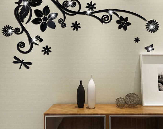 7 Hexagon Mirror Wall Decor Stickers 3d Acrylic Mirrored