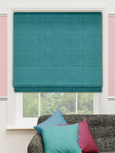 Spectrum Teal Roman Blind from Blinds 2go blinds-2go.co.uk from £25.95