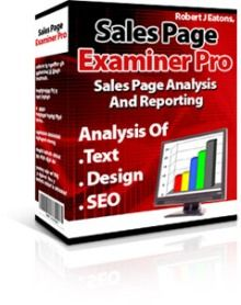 How are meta tags, headlines, paragraphs, scripts, pictures, keywords, colors, fonts? Analyse with sales page examiner pro software.