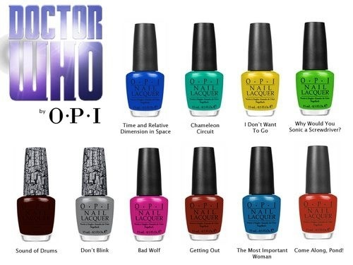 Doctor Who nail polish! I haven't watched this yet but I love these colors!