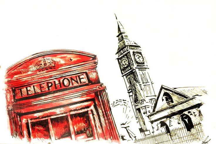 LONDYN LONDON BIGBEN w HOMEart na DaWanda.com