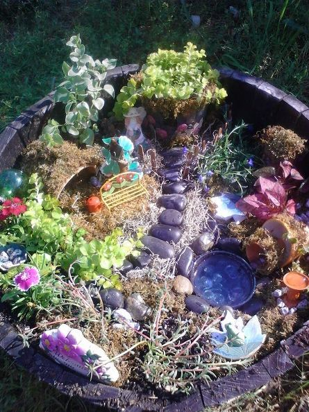Create this fairy garden on a dime and a moment's notice