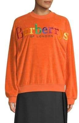 cf27af54e Burberry Rainbow Logo Sweatshirt. From the Saks IT LIST. PUTTING ON THE  KNITS.