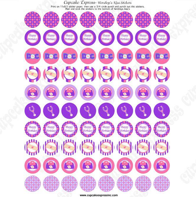 doc mcstuffins inspired printable hershey u0026 39 s kiss labels