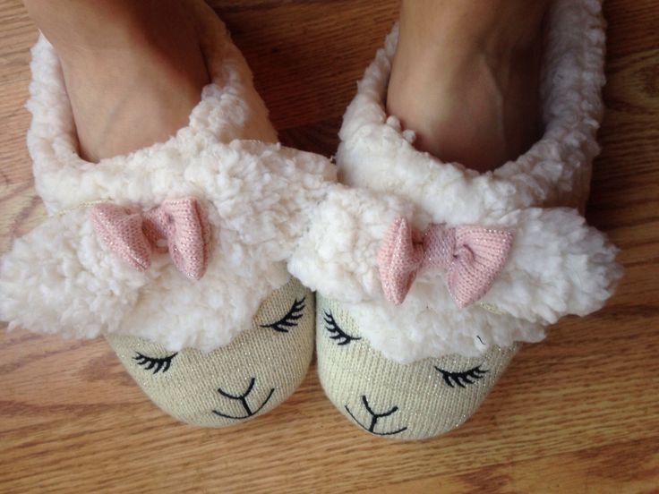 Cute lamb slippers from Bath and Body Works!