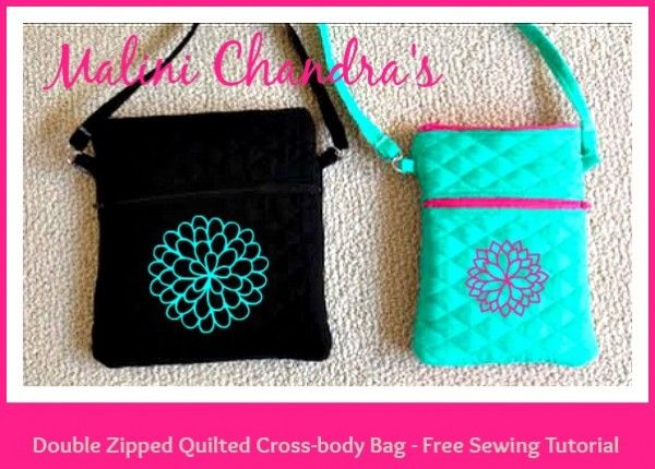 Malini Chandra's Quilted Cross-body Bag - Free Sewing Video Tutorial