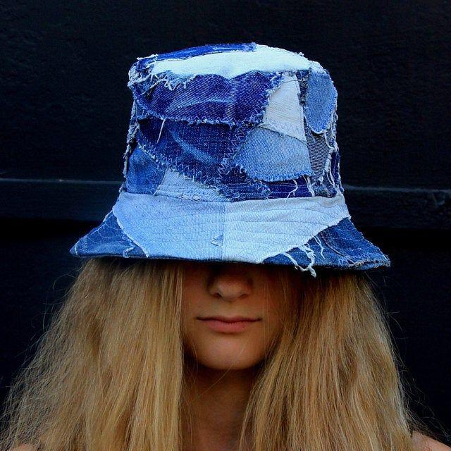 Vintage Patchwork Quilt Bucket Hat  Quilted Cotton Hat